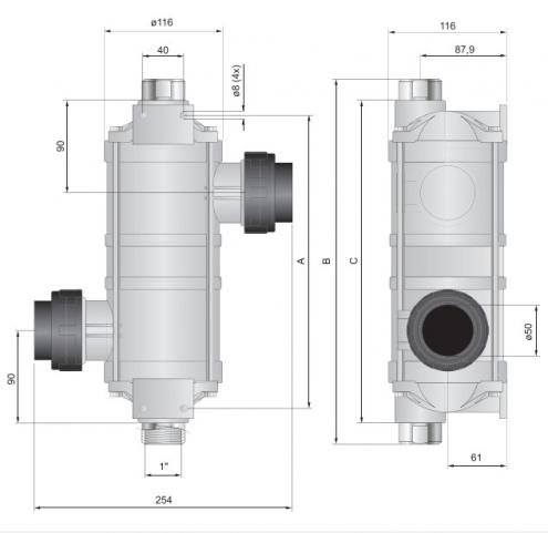Hi-Temp 40kW izmenjivač toplote za bazene Pahlen