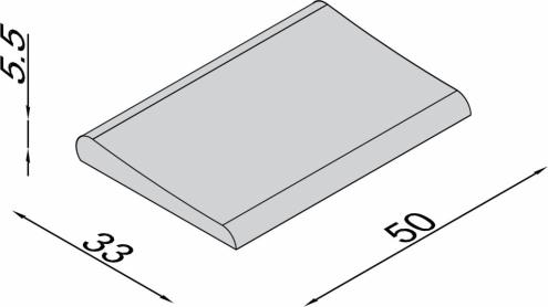 Bazenski rubni kamen VENECIJA - ravni, 32x50cm