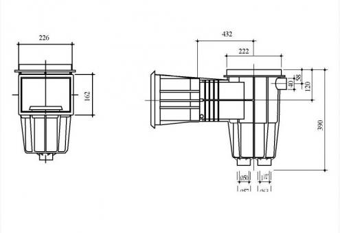 "Gemas skimer za beton STD XL 6/4""BM / D50 (3035)"