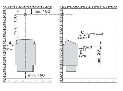 Sauna peć Harvia KIP Trendi KIP60E 6kW - bez komande