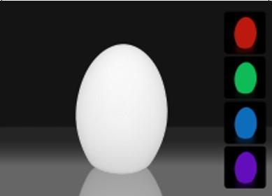 Led rasveta - Svetleće jaje 42cm